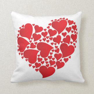 Almofada Travesseiro decorativo do coração dos namorados
