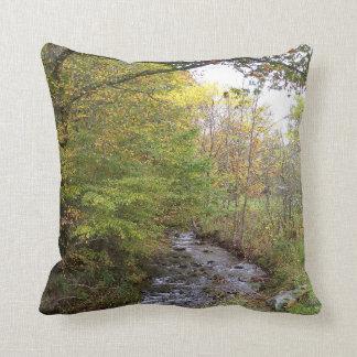 Almofada Travesseiro decorativo do córrego do outono