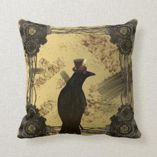 Almofada Travesseiro decorativo do corvo de SteamPunk
