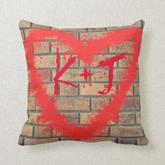 Almofada Travesseiro decorativo do costume do coração da