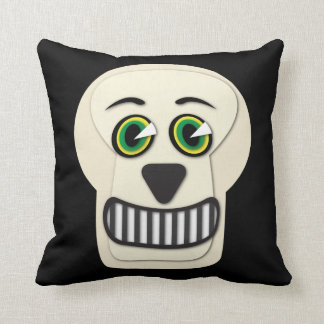 Almofada travesseiro decorativo do crânio do vintage dos