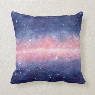 Almofada Travesseiro decorativo do espaço da aguarela