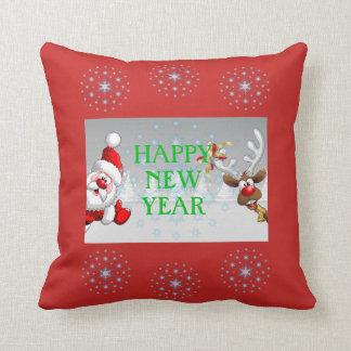 Almofada Travesseiro decorativo do feliz ano novo