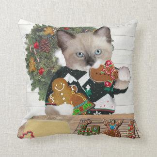 Almofada Travesseiro decorativo do gatinho do biscoito do