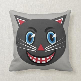Almofada travesseiro decorativo do gato preto do vintage