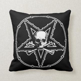 Almofada Travesseiro decorativo do gótico do Pentagram do