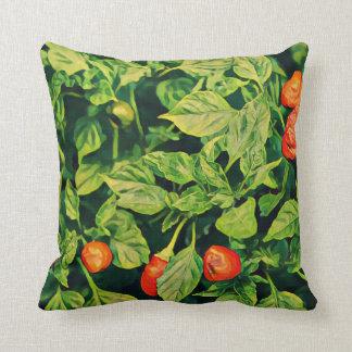 Almofada Travesseiro decorativo do impressão das pimentas