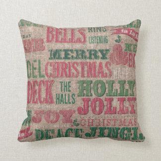 Almofada Travesseiro decorativo do inverno do Feliz Natal