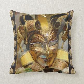 Almofada Travesseiro decorativo do ouro da máscara do