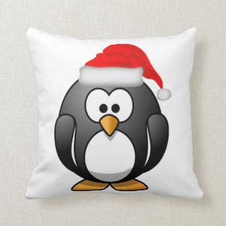 Almofada Travesseiro decorativo do pinguim do Natal