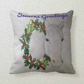 Almofada Travesseiro decorativo do pônei do White Christmas
