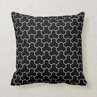 Almofada Travesseiro decorativo do preto do teste padrão de