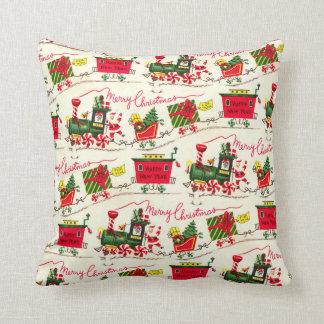 Almofada Travesseiro decorativo do quadrado do trem do