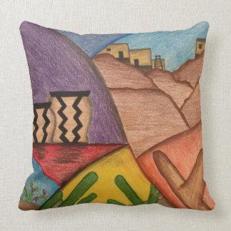 Almofada Travesseiro decorativo do sudoeste da arte popular