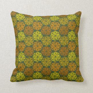 Almofada Travesseiro decorativo do teste padrão de flor do