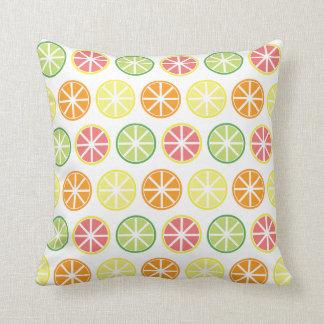 Almofada Travesseiro decorativo do teste padrão do citrino