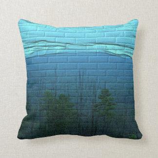 Almofada Travesseiro decorativo do teste padrão do tijolo