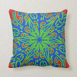 Almofada Travesseiro decorativo do teste padrão do verde do