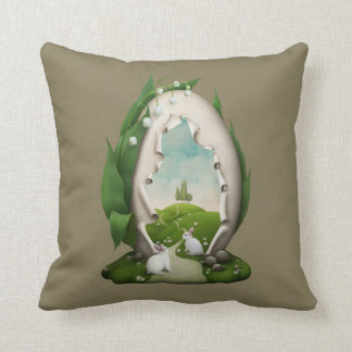 Almofada Travesseiro decorativo dos coelhos do ovo da