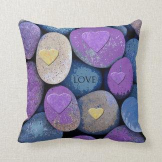Almofada Travesseiro decorativo dos corações do amor