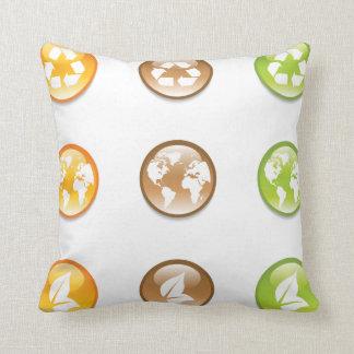 Almofada Travesseiro decorativo dos elementos do reciclagem