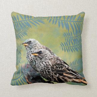 Almofada Travesseiro decorativo dos pássaros