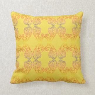 Almofada Travesseiro decorativo dourado morno feliz do