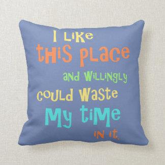 Almofada Travesseiro decorativo engraçado de aquecimento