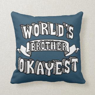 Almofada Travesseiro decorativo engraçado do texto do irmão