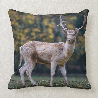 Almofada Travesseiro decorativo escuro dos cervos