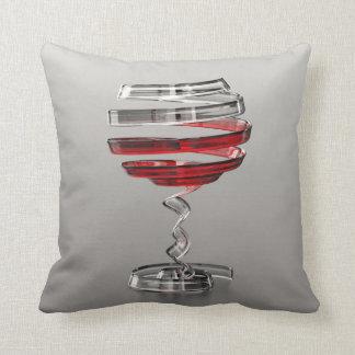 Almofada Travesseiro decorativo estranho do vidro de vinho