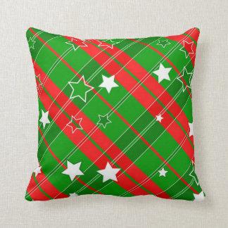 Almofada Travesseiro decorativo estrelado do Natal da