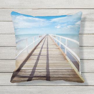 Almofada Travesseiro decorativo exterior do cais tropical