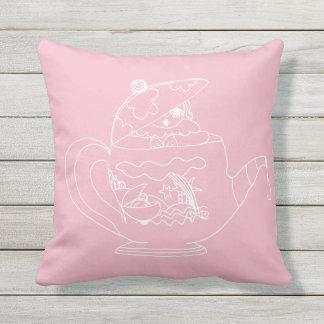 Almofada Travesseiro decorativo exterior - tempo do chá -