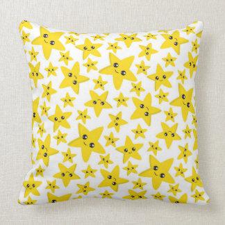 Almofada Travesseiro decorativo feliz das estrelas