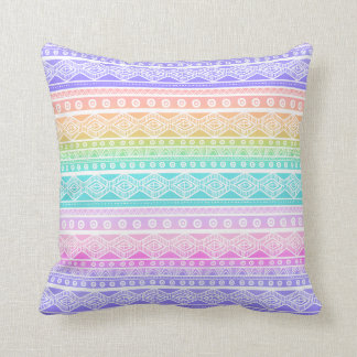 Almofada Travesseiro decorativo feminino do arco-íris