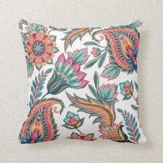 Almofada Travesseiro decorativo floral alaranjado