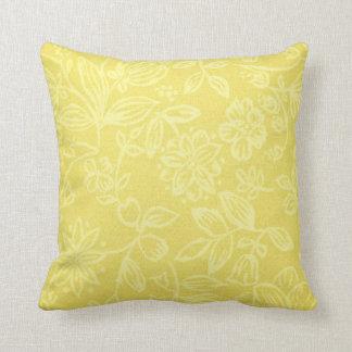 Almofada Travesseiro decorativo floral amarelo bonito do