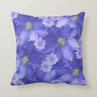 Almofada Travesseiro decorativo floral azul
