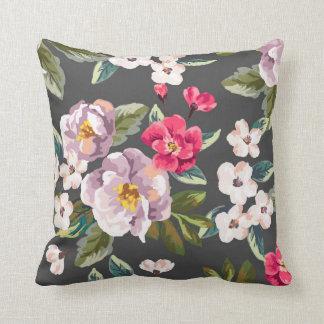 Almofada Travesseiro decorativo floral cor-de-rosa de