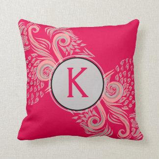 Almofada Travesseiro decorativo floral cor-de-rosa elegante