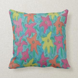 Almofada Travesseiro decorativo floral da aguarela