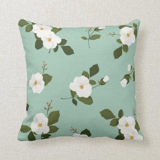 Almofada Travesseiro decorativo floral da cerceta