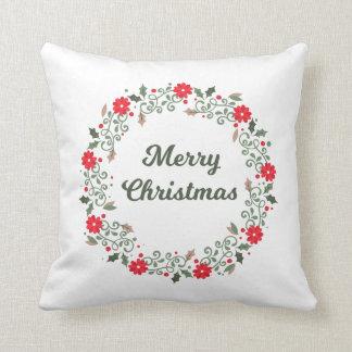 Almofada Travesseiro decorativo floral da grinalda | do