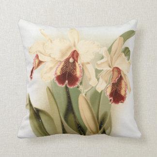 Almofada Travesseiro decorativo floral da orquídea do
