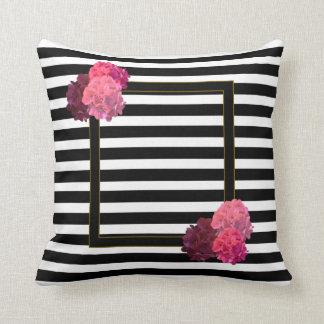 Almofada Travesseiro decorativo floral decorativo da listra