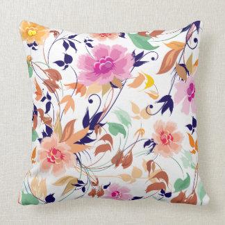 Almofada Travesseiro decorativo floral do algodão do teste
