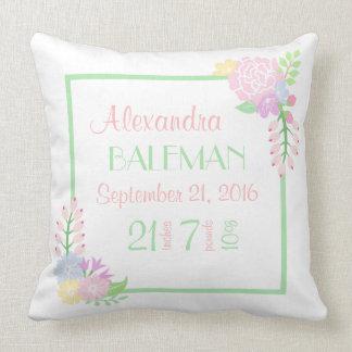 Almofada Travesseiro decorativo floral do bebé do Stats do