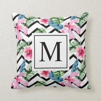 Almofada Travesseiro decorativo floral do monograma | da