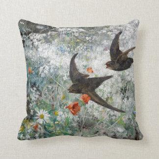 Almofada Travesseiro decorativo floral do prado do